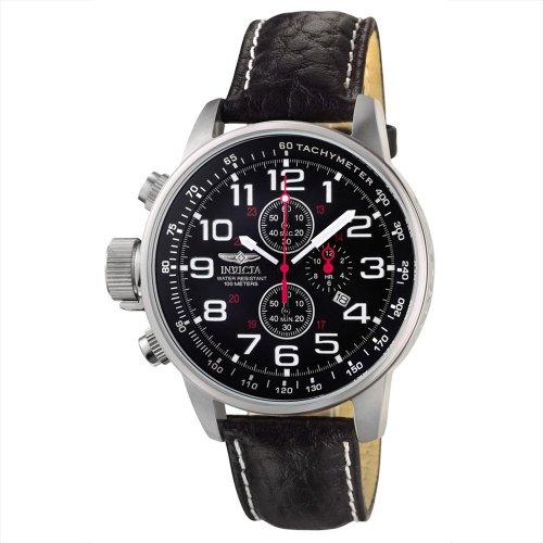 腕時計 インヴィクタ インビクタ メンズ 【送料無料】Invicta Men's 2770 Black Leather Quartz Watch腕時計 インヴィクタ インビクタ メンズ