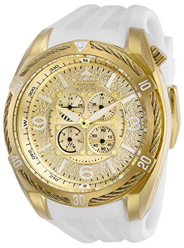 インヴィクタ インビクタ 腕時計 メンズ Invicta Men's Aviator Stainless Steel Quartz Watch with Silicone Strap, White, 32 (Model: 28080)インヴィクタ インビクタ 腕時計 メンズ