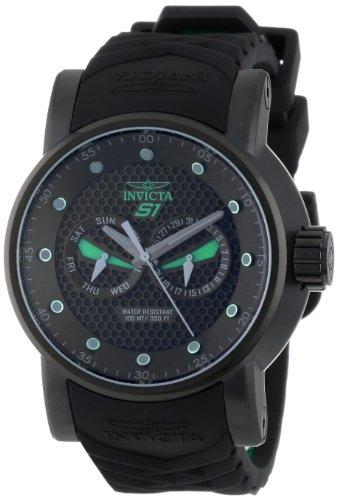 インヴィクタ インビクタ 腕時計 メンズ Invicta Men's 12788 S1 Rally Black Textured Dial Black and Green Silicone Watchインヴィクタ インビクタ 腕時計 メンズ