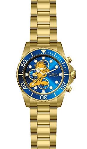 腕時計 インヴィクタ インビクタ メンズ 【送料無料】INVICTA Character Collection Men 43mm Stainless Steel Gold Blue dial Quartz腕時計 インヴィクタ インビクタ メンズ