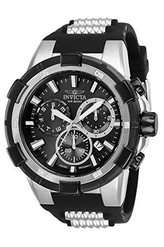 インヴィクタ インビクタ 腕時計 メンズ 【送料無料】Invicta Men's Aviator Stainless Steel Quartz Watch with Silicone Strap, Two Tone, 30 (Model: 25860)インヴィクタ インビクタ 腕時計 メンズ