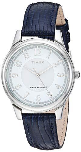 タイメックス 腕時計 レディース 【送料無料】Timex Women's TW2R87400 Classic 36mm Blue/Silver-Tone Leather Strap Watchタイメックス 腕時計 レディース