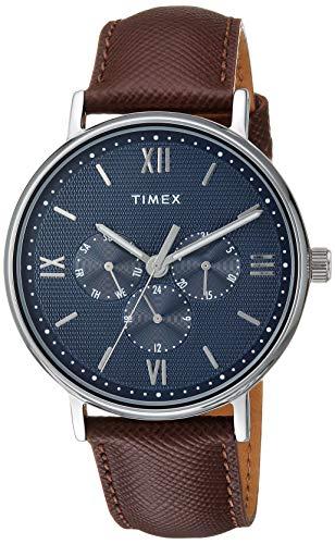 タイメックス 腕時計 メンズ 【送料無料】Timex Men's TW2T35100 Southview 41mm Multifunction Brown/Silver/Blue Leather Strap Watchタイメックス 腕時計 メンズ