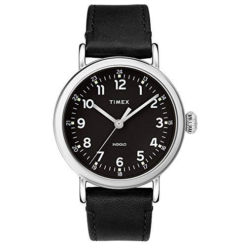 タイメックス 腕時計 メンズ 【送料無料】Timex 40 mm Standard Leather Strap Black One Sizeタイメックス 腕時計 メンズ