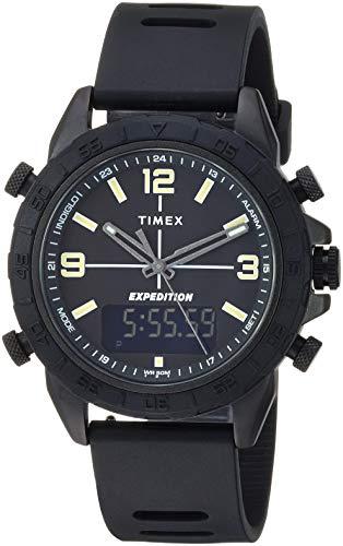 タイメックス 腕時計 メンズ Timex Men's TW4B17000 Expedition Pioneer Combo 41mm Black Silicone Strap Watchタイメックス 腕時計 メンズ