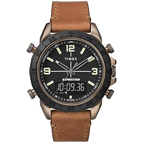 タイメックス 腕時計 メンズ 【送料無料】Timex Men's TW4B17200 Expedition Pioneer Combo 41mm Tan/Black Leather Strap Watchタイメックス 腕時計 メンズ