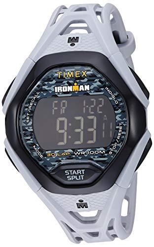 タイメックス 腕時計 メンズ 【送料無料】Timex Men's TW5M23800 Ironman Sleek 30 Gray/Black Resin Strap Watchタイメックス 腕時計 メンズ
