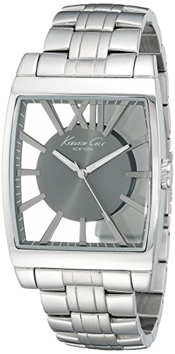 ケネスコール・ニューヨーク Kenneth Cole New York 腕時計 メンズ 【送料無料】Kenneth Cole New York Men's KC9345 Transparency Analog Display Japanese Quartz Silver Watchケネスコール・ニューヨーク Kenneth Cole New York 腕時計 メンズ