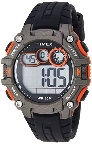 タイメックス 腕時計 メンズ 【送料無料】Timex Men's TW5M27200 DGTL Big Digit 48mm Black/Gray/Orange Silicone Strap Watchタイメックス 腕時計 メンズ