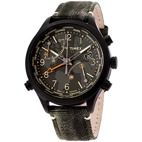 腕時計 タイメックス メンズ 【送料無料】Timex Waterbury Quartz Movement Green Dial Men's Watch TW2R43200腕時計 タイメックス メンズ