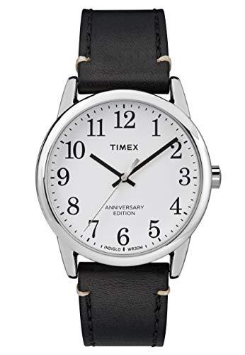 腕時計 タイメックス メンズ 【送料無料】Timex Easy Reader White Dial Leather Strap Men's Watch TW2R35700腕時計 タイメックス メンズ