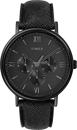 タイメックス 腕時計 メンズ 【送料無料】Timex Men's Year-Round Quartz Watch with Leather Strap, Black, 20 (Model: TW2T35200)タイメックス 腕時計 メンズ