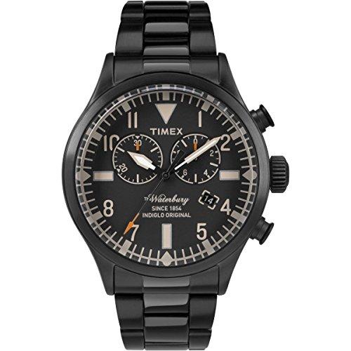 タイメックス 腕時計 メンズ 【送料無料】Timex Waterbury Traditional Black Dial Stainless Steel Men's Watch TW2R25000タイメックス 腕時計 メンズ