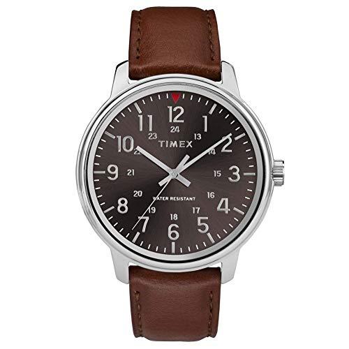 腕時計 タイメックス メンズ 【送料無料】Timex Mens Analogue Classic Quartz Watch with Leather Strap TW2R85700腕時計 タイメックス メンズ