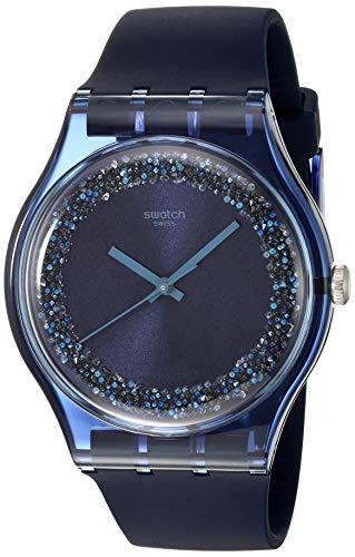 スウォッチ 腕時計 メンズ 【送料無料】Swatch 1809 Think Fun Quartz Silicone Strap, Blue, 19 Casual Watch (Model: SUON134)スウォッチ 腕時計 メンズ