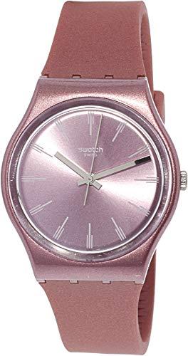 スウォッチ 腕時計 メンズ Swatch Pastelbaya GP154 Pink Silicone Swiss Quartz Fashion Watchスウォッチ 腕時計 メンズ