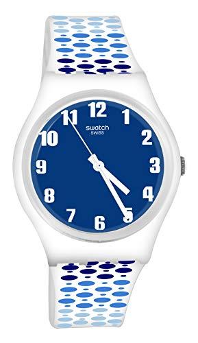 スウォッチ 腕時計 メンズ Swatch GW201 Paveblue Blue Analog Dial White Band Watchスウォッチ 腕時計 メンズ