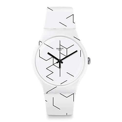 スウォッチ 腕時計 Meiro メンズ White 【送料無料】Swatch Dial メンズ Quartz Watch スウォッチ SUOW164腕時計 Unisex Movement