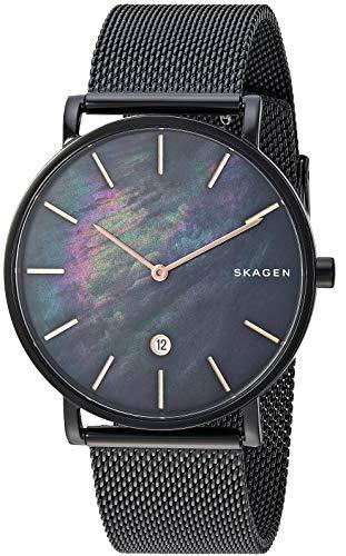 スカーゲン 腕時計 メンズ 【送料無料】Skagen Men's Hagen Analog-Quartz Stainless-Steel-Plated Strap, Black, 19.8 Casual Watch (Model: SKW6472)スカーゲン 腕時計 メンズ