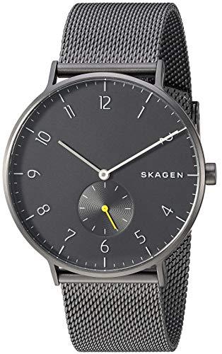 スカーゲン 腕時計 メンズ 【送料無料】Skagen Men's Aaren Analog-Quartz Stainless-Steel-Plated Strap, Grey, 19.9 Casual Watch (Model: SKW6470)スカーゲン 腕時計 メンズ