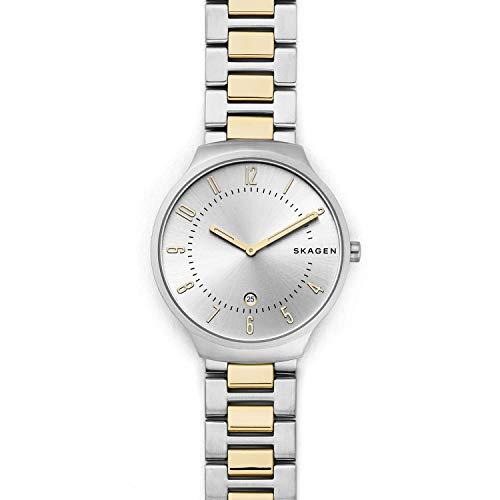 腕時計 スカーゲン メンズ 【送料無料】Skagen Men's Grenen Two-Hand Date Silver-Tone Stainless Steel Watch SKW6516腕時計 スカーゲン メンズ