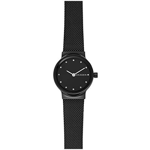 スカーゲン 腕時計 レディース Skagen Women's Freja Crystal Markers - SKW2747 Black One Sizeスカーゲン 腕時計 レディース