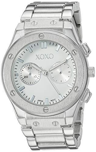 クスクス キスキス 腕時計 レディース 【送料無料】XOXO Women's Stainless Steel Quartz Watch with Alloy Strap, Silver, 21 (Model: XO287)クスクス キスキス 腕時計 レディース