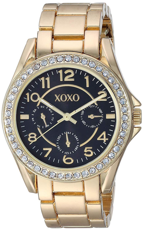 クスクス キスキス 腕時計 レディース XOXO Women's Analog-Quartz Watch with Alloy Strap, Gold, 20.1 (Model: XO179)クスクス キスキス 腕時計 レディース