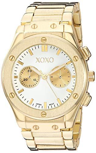 クスクス キスキス 腕時計 レディース 【送料無料】XOXO Women's Quartz Watch with Alloy Strap, Two Tone, 21 (Model: XO288)クスクス キスキス 腕時計 レディース