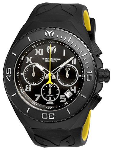 テクノマリーン 腕時計 メンズ 【送料無料】Technomarine Men's Manta Stainless Steel Quartz Watch with Silicone Strap, Black, 31 (Model: TM-215069)テクノマリーン 腕時計 メンズ