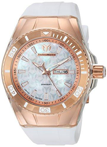 テクノマリーン 腕時計 メンズ Technomarine Men's Cruise Stainless Steel Quartz Watch with Silicone Strap, White, 29 (Model: TM-115375)テクノマリーン 腕時計 メンズ