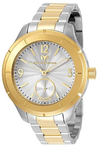 テクノマリーン 腕時計 メンズ Technomarine Men's MoonSun Quartz Watch with Stainless-Steel Strap, Two Tone, 18 (Model: TM-117028)テクノマリーン 腕時計 メンズ