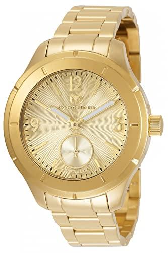 テクノマリーン 腕時計 メンズ Technomarine Men's MoonSun Quartz Watch with Gold-Tone-Stainless-Steel Strap, 18 (Model: TM-117030)テクノマリーン 腕時計 メンズ