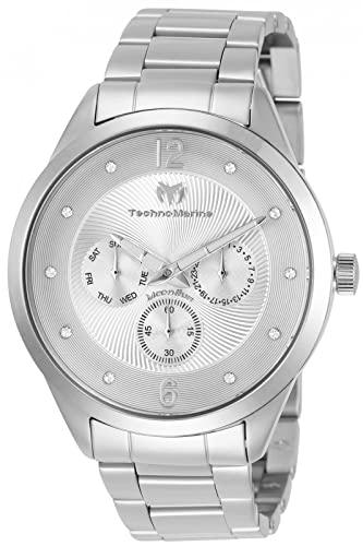 テクノマリーン 腕時計 メンズ 【送料無料】Technomarine Men's Moonsun Quartz Watch with Stainless-Steel Strap, Silver, 20 (Model: TM-117039)テクノマリーン 腕時計 メンズ