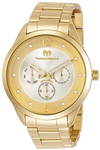 テクノマリーン 腕時計 メンズ Technomarine Men's Moonsun Quartz Watch with Stainless-Steel Strap, Gold, 19.6 (Model: TM-117041)テクノマリーン 腕時計 メンズ