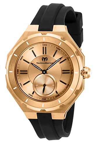 テクノマリーン 腕時計 レディース 【送料無料】Technomarine Women's Cruise Sea Lady Stainless Steel Quartz Watch with Silicone Strap, Black, 17 (Model: TM-118007)テクノマリーン 腕時計 レディース