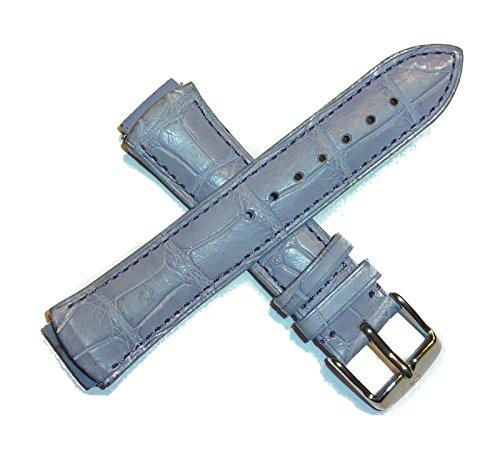 テクノマリーン 腕時計 レディース 【送料無料】TechnoMarine 1134 17MM Genuine Alligator Leather Watch Strap Lavender w/Logo Stainless Buckleテクノマリーン 腕時計 レディース