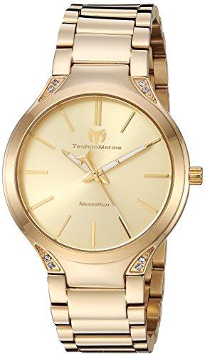 テクノマリーン 腕時計 レディース Technomarine Women's MoonSun Quartz Watch with Gold-Tone-Stainless-Steel Strap, 19 (Model: TM-117032)テクノマリーン 腕時計 レディース