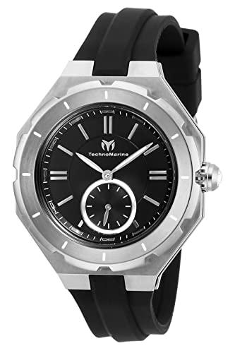 テクノマリーン 腕時計 レディース 【送料無料】Technomarine Women's Cruise Stainless Steel Quartz Watch with Silicone Strap, Black, 17 (Model: TM-118002)テクノマリーン 腕時計 レディース