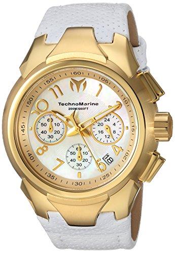 テクノマリーン 腕時計 レディース 【送料無料】Technomarine Women's Sea Stainless Steel Quartz Watch with Leather Calfskin Strap, White, 25 (Model: TM-715033)テクノマリーン 腕時計 レディース