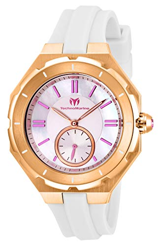 テクノマリーン 腕時計 レディース 【送料無料】Technomarine Women's Cruise Stainless Steel Quartz Watch with Silicone Strap, White, 17 (Model: TM-118008)テクノマリーン 腕時計 レディース
