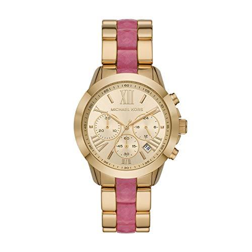マイケルコース 腕時計 レディース マイケル・コース アメリカ直輸入 Michael Kors Women's Bradshaw Gold Tone Stainless-Steel and Pink Acetate Watch MK6571マイケルコース 腕時計 レディース マイケル・コース アメリカ直輸入