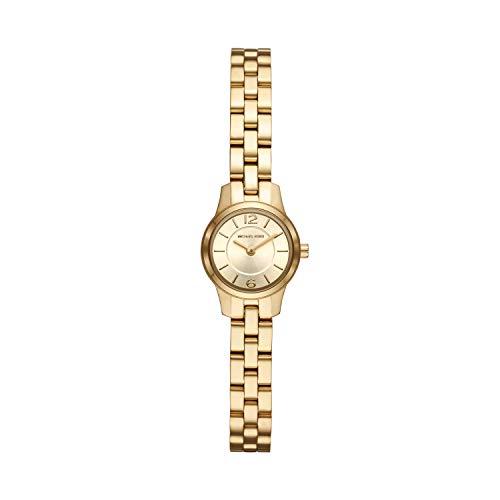 マイケルコース 腕時計 レディース 母の日特集 マイケル・コース 【送料無料】Michael Kors Women's Runway Quartz Watch with Stainless-Steel-Plated Strap, Gold, 8 (Model: MK6592)マイケルコース 腕時計 レディース 母の日特集 マイケル・コース