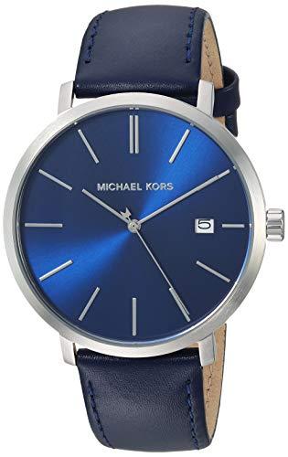 マイケルコース 腕時計 メンズ マイケル・コース アメリカ直輸入 Michael Kors Men's Blake Stainless Steel Quartz Watch with Leather Strap, Silver/Blue, 20マイケルコース 腕時計 メンズ マイケル・コース アメリカ直輸入