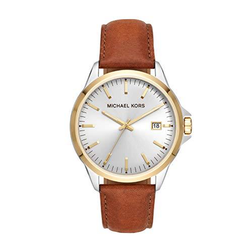 マイケルコース 腕時計 メンズ マイケル・コース アメリカ直輸入 【送料無料】Michael Kors Men's Penn Stainless Steel Quartz Watch with Leather Strap, Brown, 21.5 (Model: MK7071)マイケルコース 腕時計 メンズ マイケル・コース アメリカ直輸入