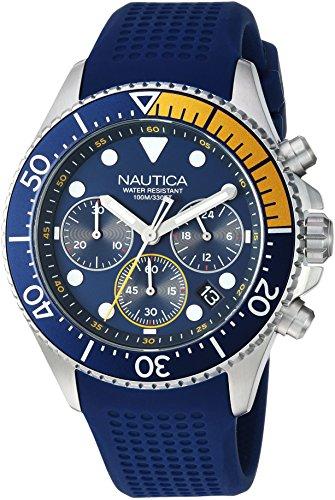 ノーティカ 腕時計 メンズ 【送料無料】Nautica Men's Westport Collection Stainless Steel Japanese-Quartz Watch with Silicone Strap, Blue, 19 (Model: NAPWPC002)ノーティカ 腕時計 メンズ