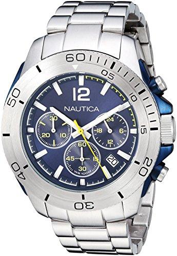 ノーティカ 腕時計 メンズ 【送料無料】Nautica Men's 'Andover' Quartz Stainless Steel Casual Watch, Color:Silver-Toned (Model: NAPADR004)ノーティカ 腕時計 メンズ