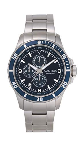 ノーティカ 腕時計 メンズ 【送料無料】Nautica Men's NAPFRB018 Freeboard Multifunction Silver/Navy Stainless Steel Bracelet Watchノーティカ 腕時計 メンズ