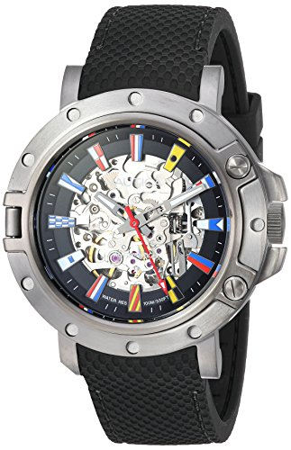 ノーティカ 腕時計 メンズ 【送料無料】Nautica Men's PRH Porthole Stainless Steel Japanese-Quartz Watch with Silicone Strap, Black, 20 (Model: NAPPRH011)ノーティカ 腕時計 メンズ