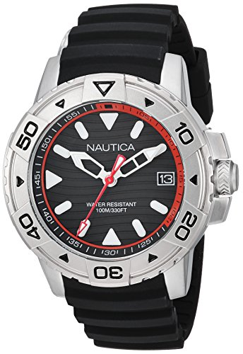 ノーティカ 腕時計 メンズ 【送料無料】Nautica Men's Edgewater Collection Stainless Steel Japanese-Quartz Watch with Silicone Strap, Blue, 20 (Model: NAPEGT001)ノーティカ 腕時計 メンズ